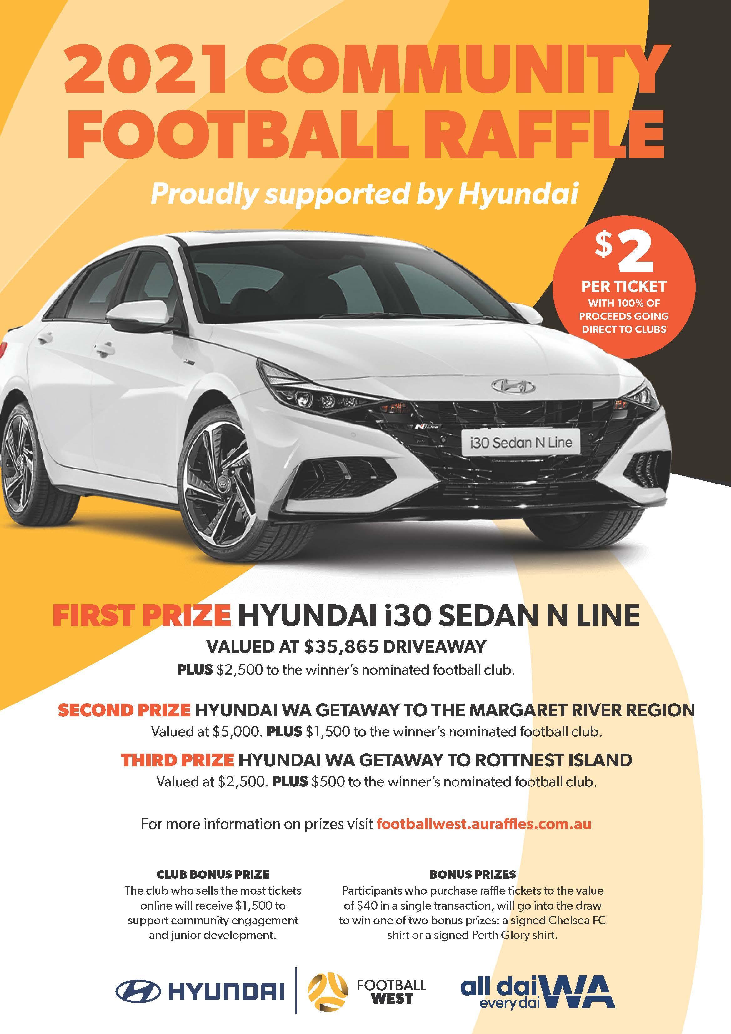 Hyundai raffle now live